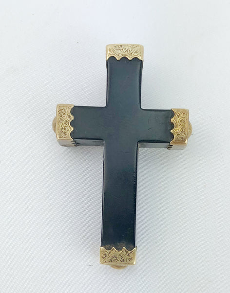Estate Collection Cross - Antique Victorian Mourning