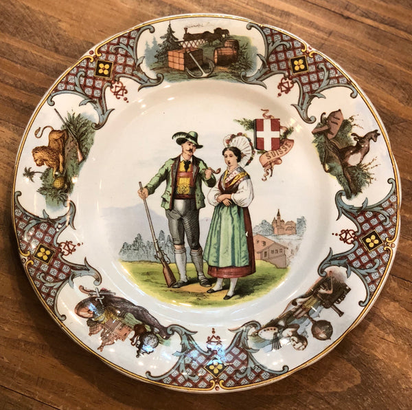 "Estate Collection China - Plate Switzerland - U et Cie Sarreguemines ""Nations"""