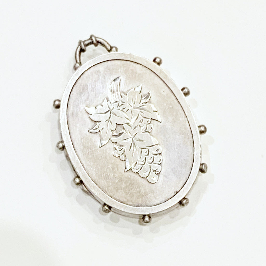 Estate Collection Locket - Late Victorian 1893 Silver