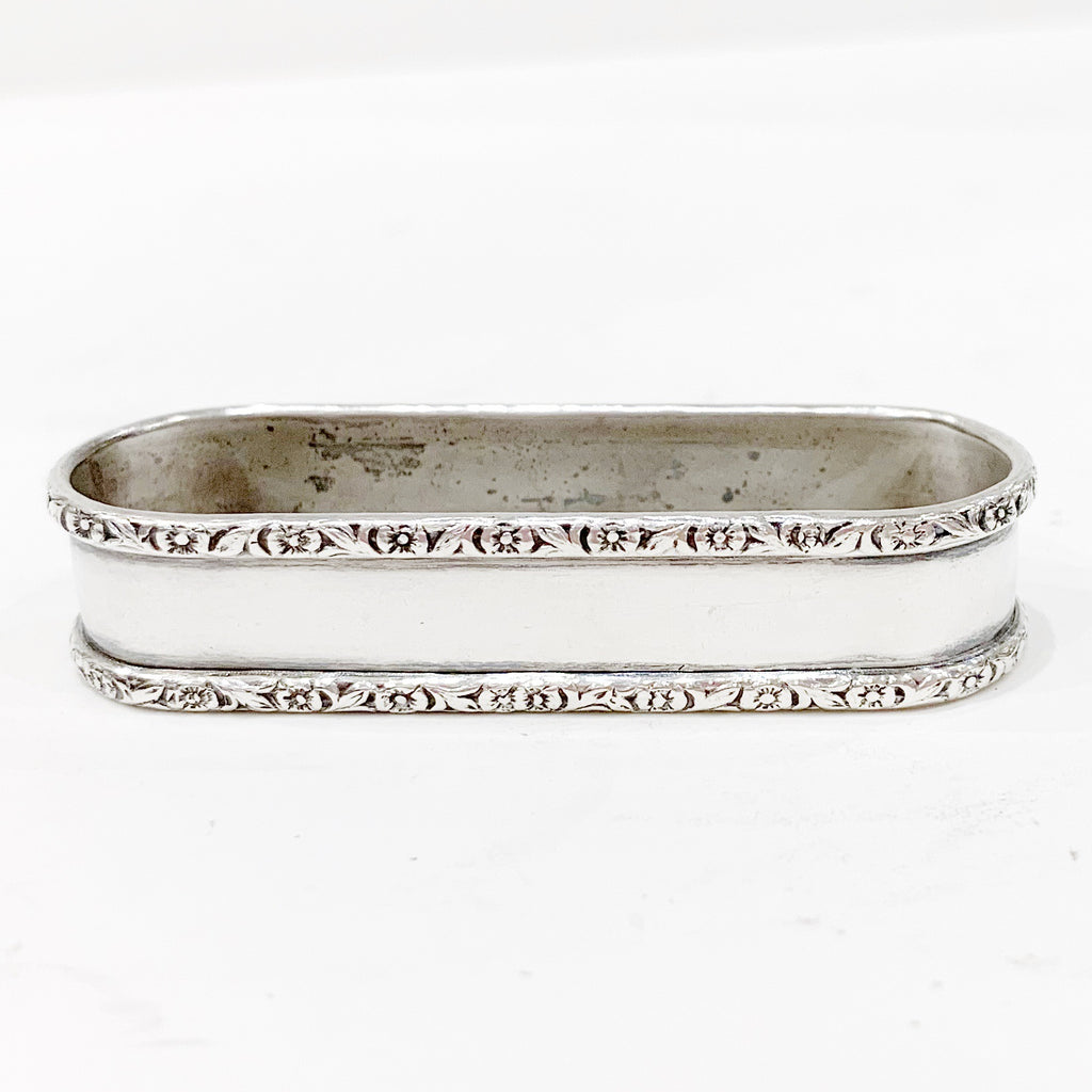 Estate Collection Sterling - Napkin Ring Webster Round Elongated w/Decorative Rim