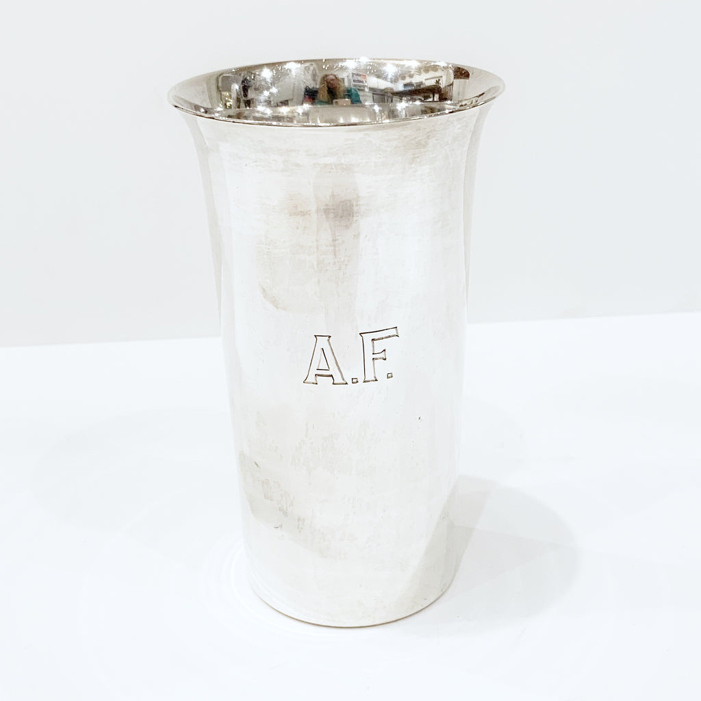 "Estate Collection Sterling - Tumblers w/Flared Rims - Mono ""AF"""