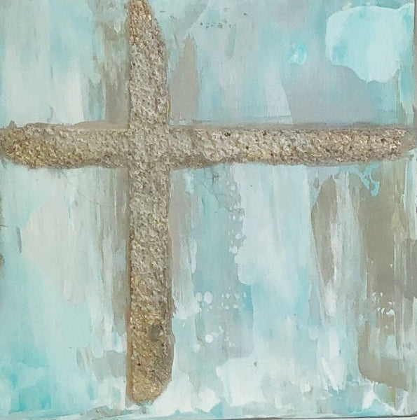 "Kim Weathers - Cross 4"" x 4"""