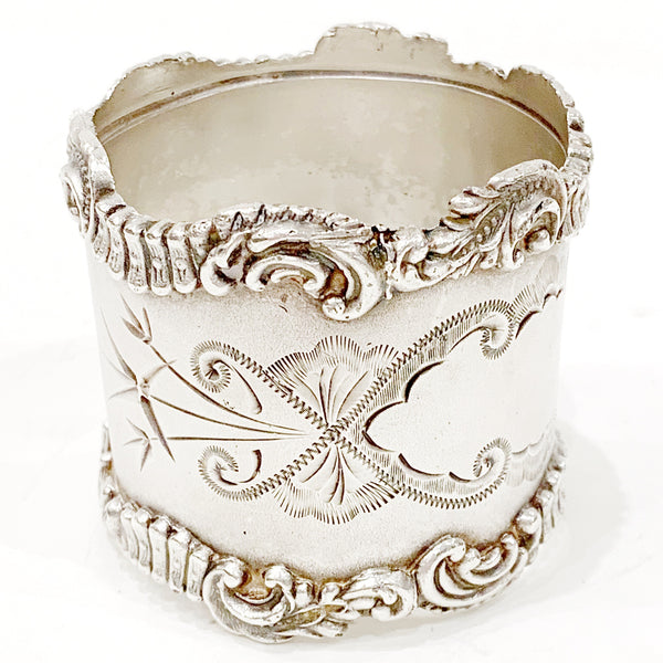 Estate Collection Pewter - Napkin Ring W/Decorative Trim