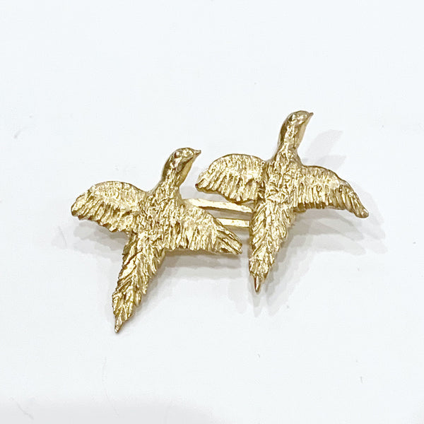 Estate Collection Brooch - 14K Yellow Gold Pheasants