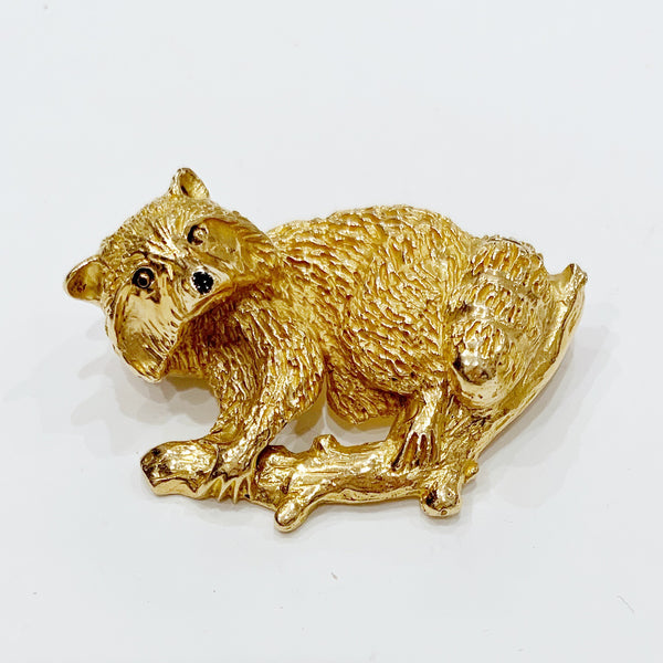 Estate Collection Brooch - Raccoon