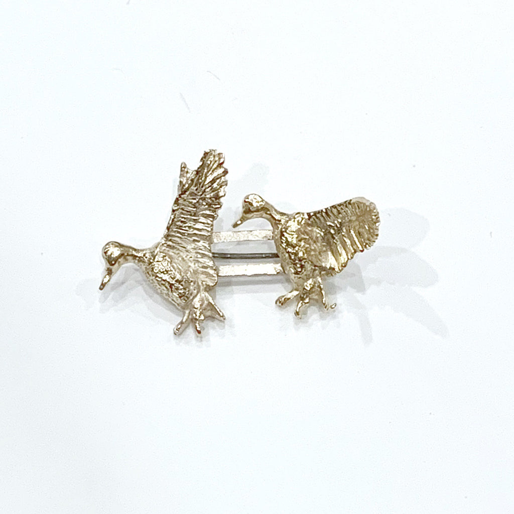 Estate Collection Brooch - 14K Yellow Gold Flying Ducks