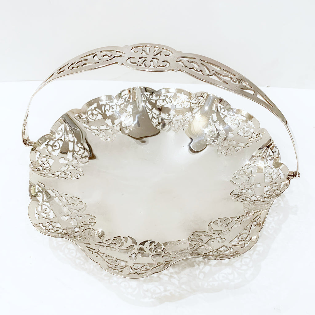 Estate Collection Silver Plate - Basket Round Pierced