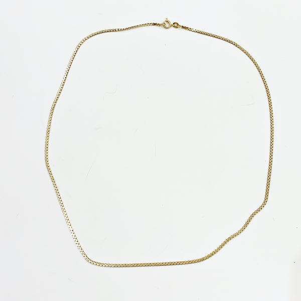"Estate Collection Necklace - Italian Flat ""C"" Link Chain"