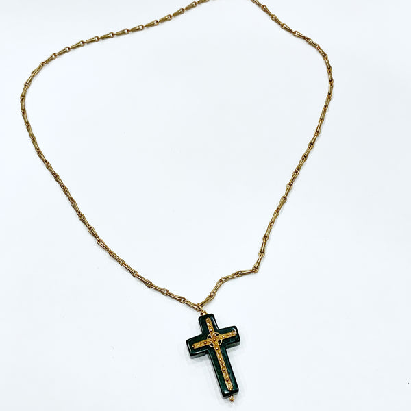 Cross and Magnesite Necklace