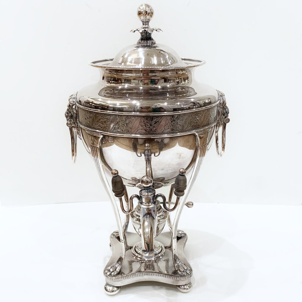 Estate Collection Silver Plate - Urn Antique Hot Water (C. 1870) Sheffield