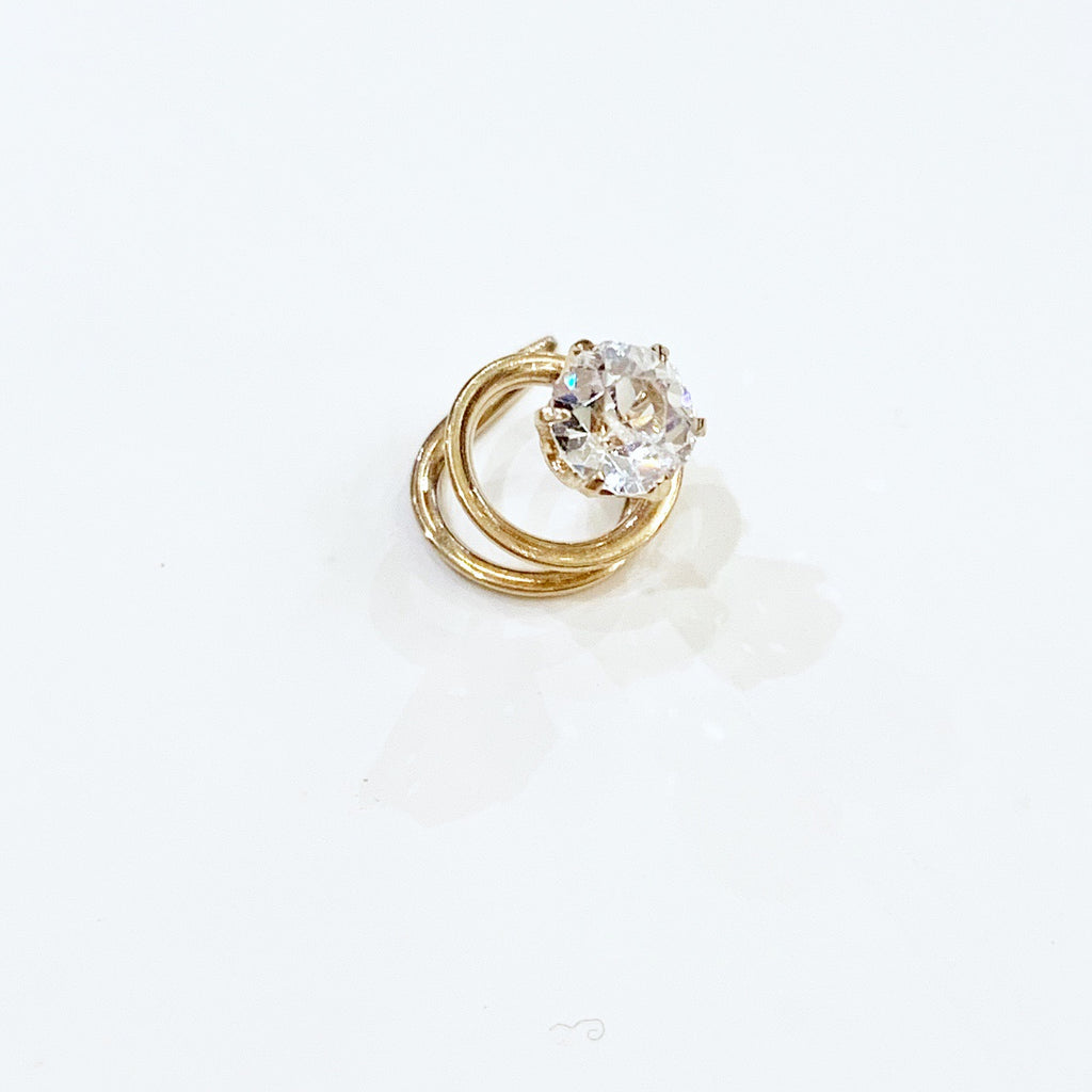 Estate Collection Vintage Old Mine Cut Diamond Set in 14K Gold