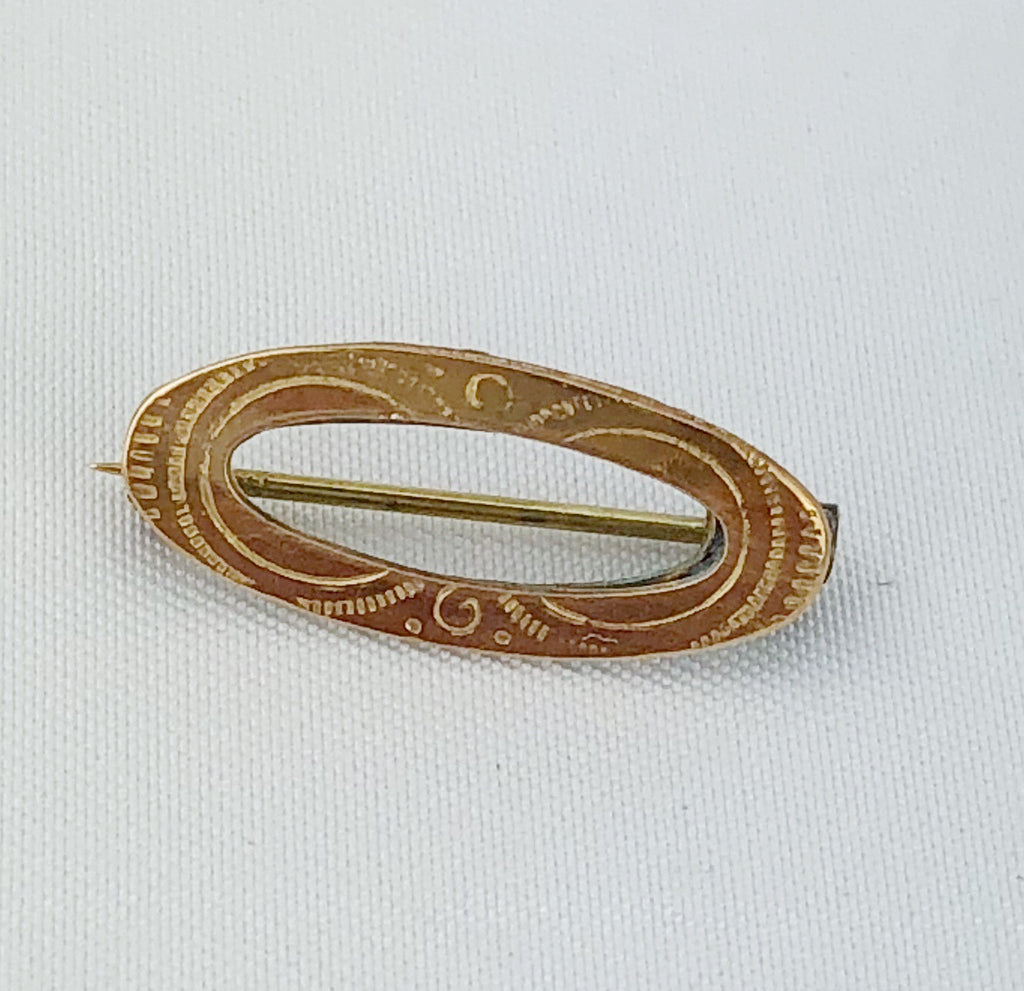 Estate Collection Baby Pin - Victorian Gold Filled Oval Shaped