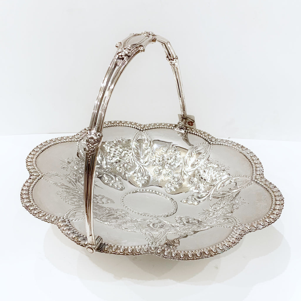 Estate Collection Sheffield Silver Plate Basket