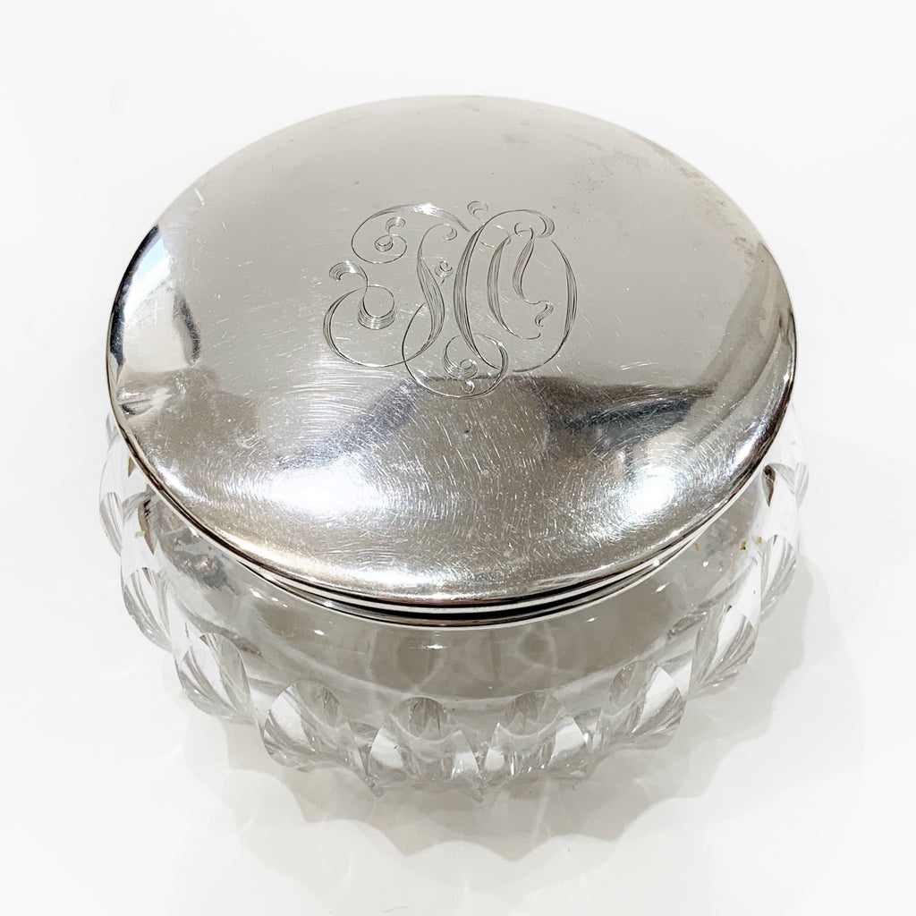 Estate Collection Sterling - Dresser Jar with Monogram on Lid
