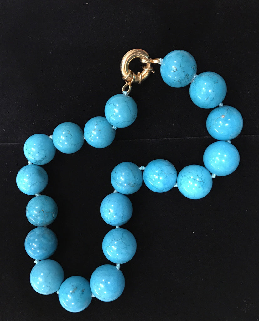 Estate Collection 20MM Turquoise Bead Necklace