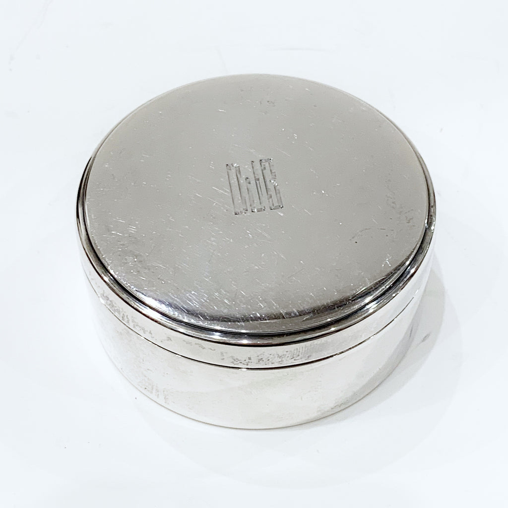 Estate Collection Sterling - Dresser Box  Tiffany & Co.  Round Lidded w/Monogram