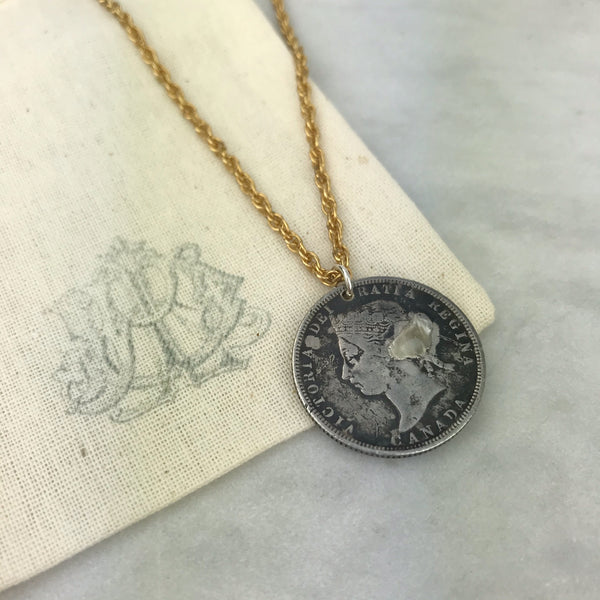 Canadian Coin Love Token Necklace