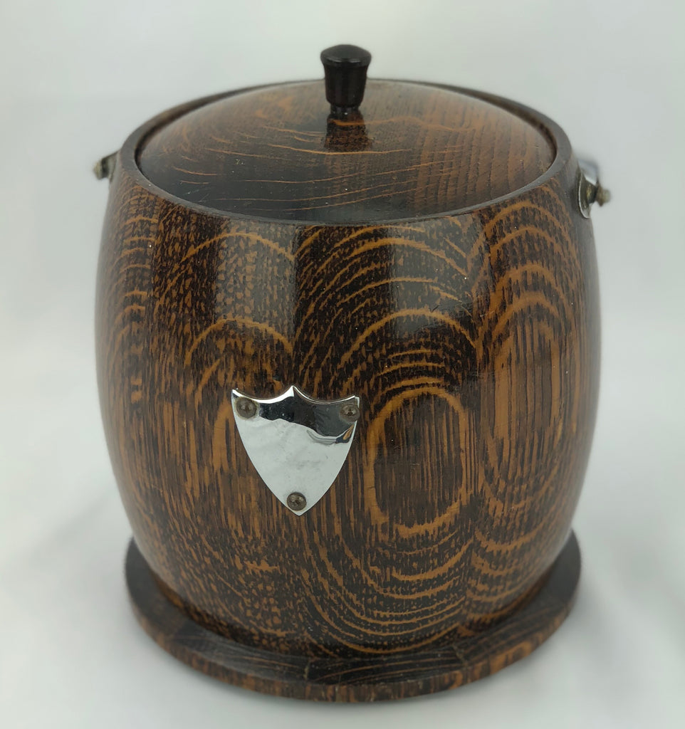 Estate Collection Wooden Biscuit Barrel