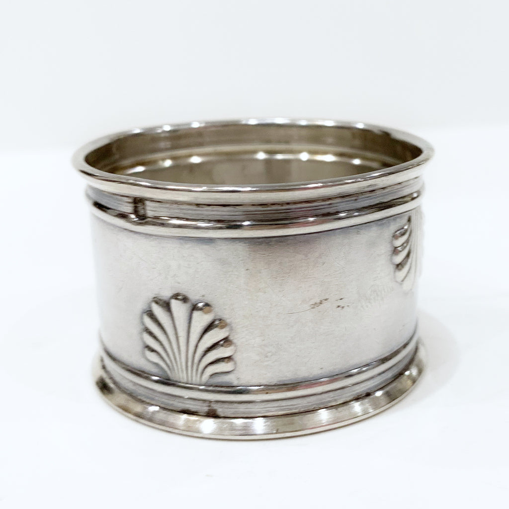 Estate Collection Sterling - Napkin Ring w/Shells