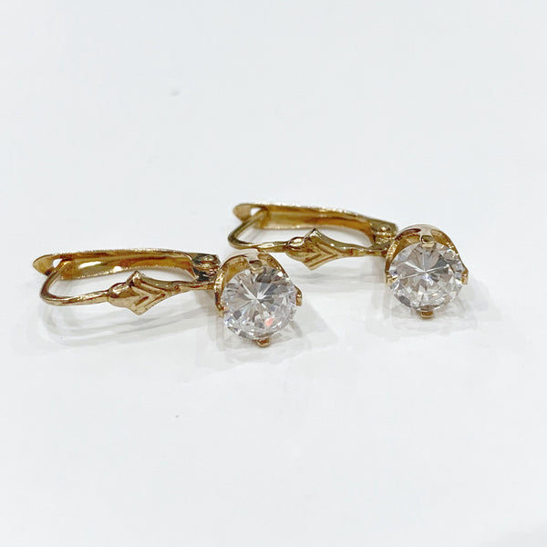 Estate Collection Earrings - 14K Gold & CZ's