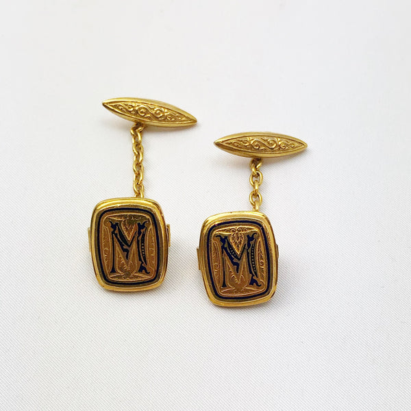 "Estate Collection Cufflinks - 1940's London ""M"""