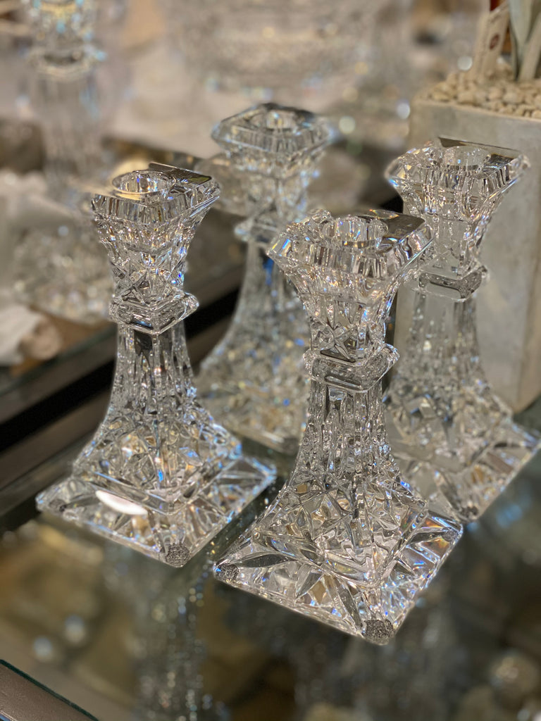 Estate Collection - Pair of Waterford Irish Crystal Lismore Candlesticks
