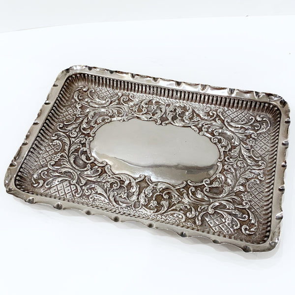 Estate Collection Antique Sterling Dresser Tray