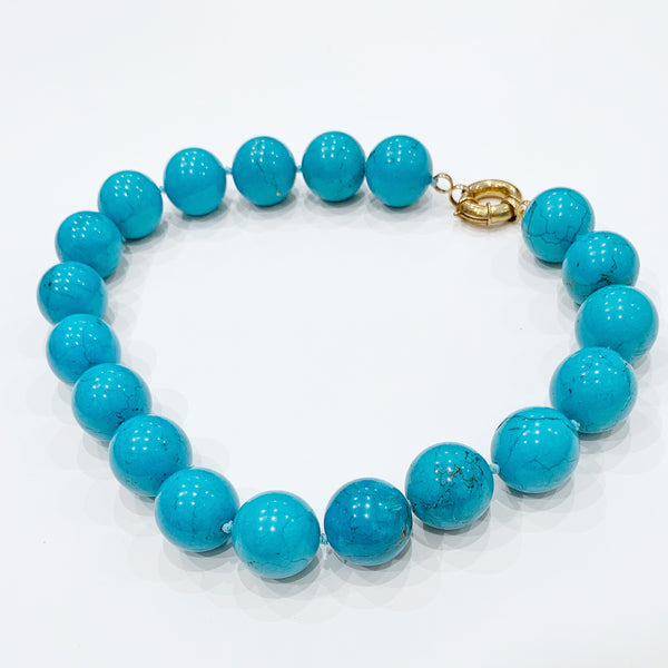 Estate Collection Necklace - 20MM Turquoise Bead