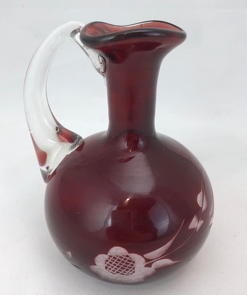 Estate Collection Ruby Etched Cruet