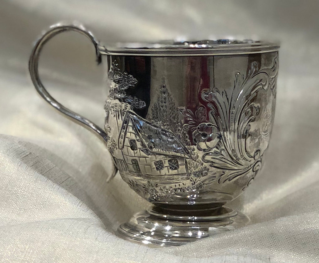 Estate Collection Antique Late 19thC Footed Mug