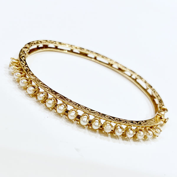 Estate Collection Bracelet - Vintage Seed Pearl 14K