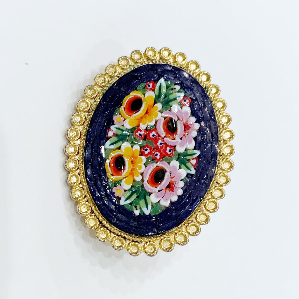 Estate Collection Brooch - Italian Design Micro Mosaic