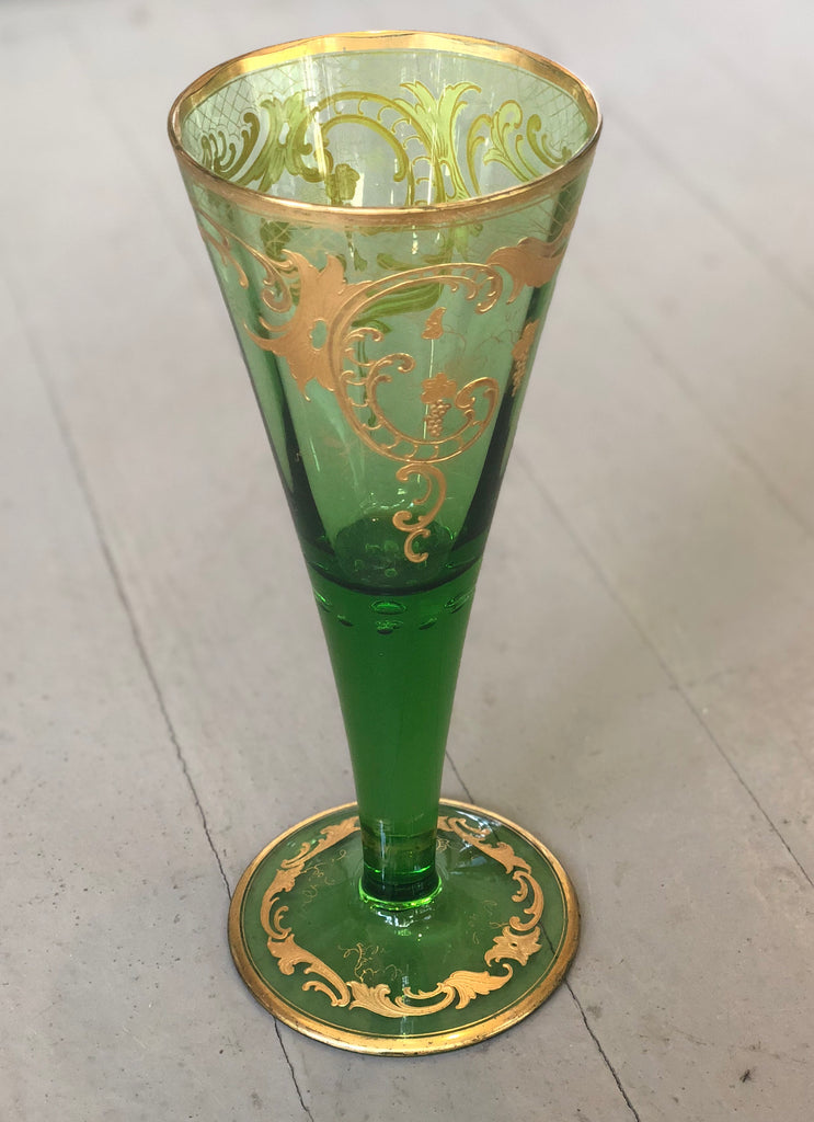 Estate Collection Antique Victorian Green Vase