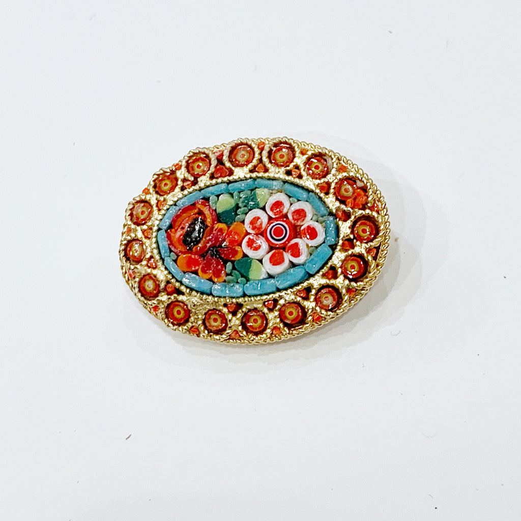 Estate Collection Brooch - Micro Mosaic Italian Design