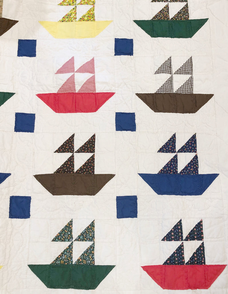 Estate Collection Quilt - Vintage Sailboat
