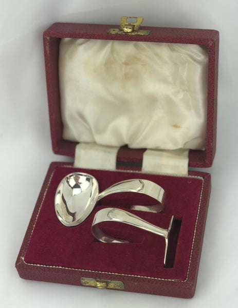 Estate Collection Baby Silver - Spoon & pusher Set Francis Howard  Silver