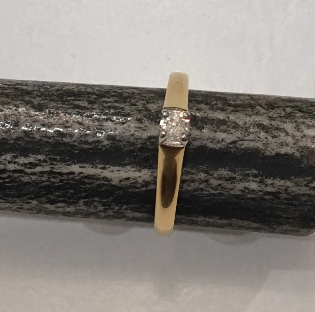 Estate Collection 18 ct Gold Diamond Single Stone Ring