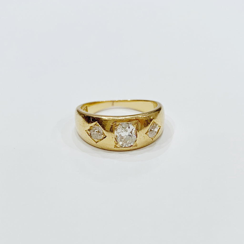 Estate Collection Ring - 18k Gold and Old-Cut Diamond