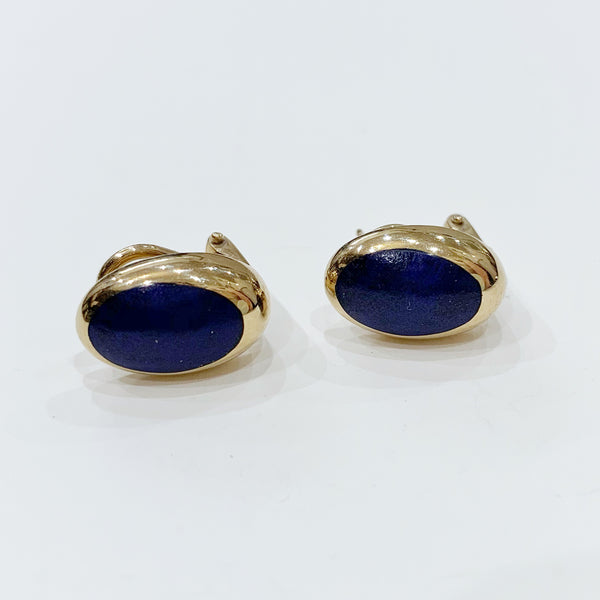 Estate Collection Earrings - 9k Gold Lapis Lazuli