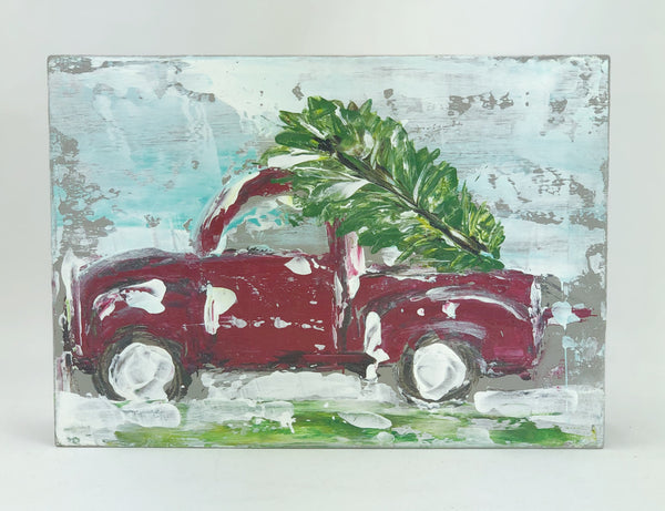 Kim Weathers Art - Christmas Tree Truck