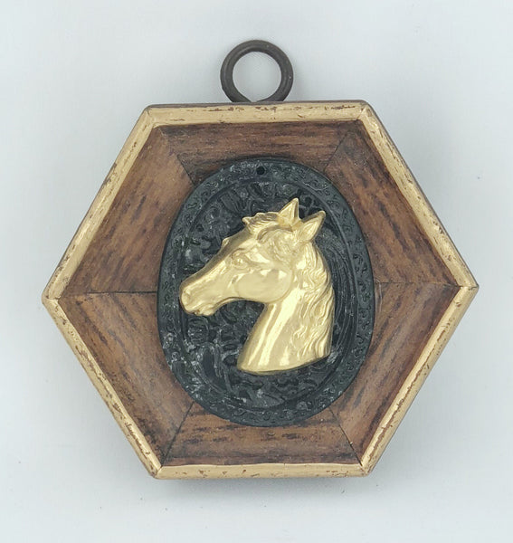 Museum Bee - Wooden Frame with Horse on Jade
