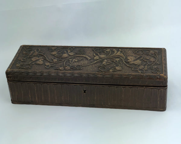 Estate Collection Box - Carved Wooden Glove Box