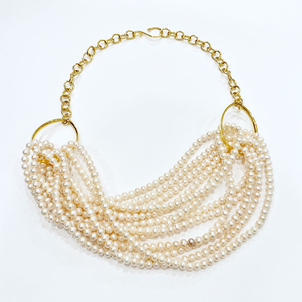 Freshwater Pearl Torsade Twist Necklace
