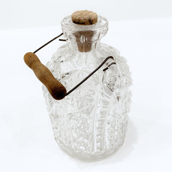 Estate Collection Crystal - Bottle Cut Crystal w/Cork Stopper