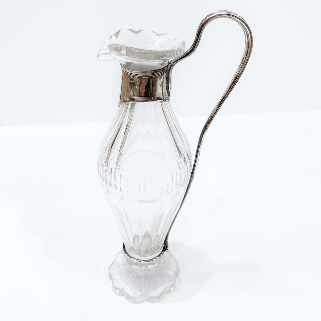 Estate Collection Sterling - Perume Pourers Cut Crystal and Sterling