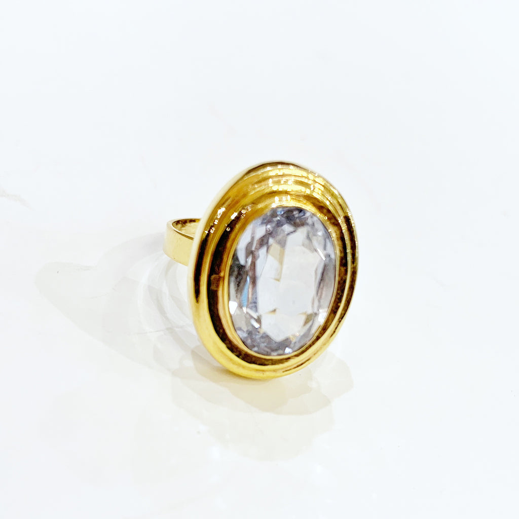 Estate Collection Ring - Synthetic Aquamarine