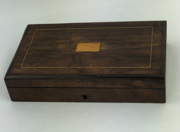 Estate Collection Box - Inlay Wooden Box w/Tools
