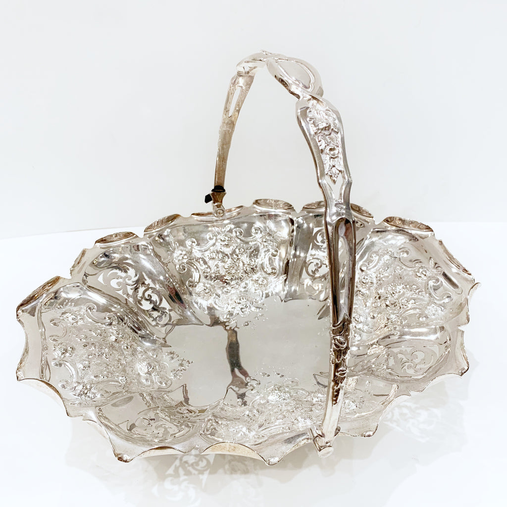 Estate Collection Silver Plate - Basket Roberts, Smith & Co