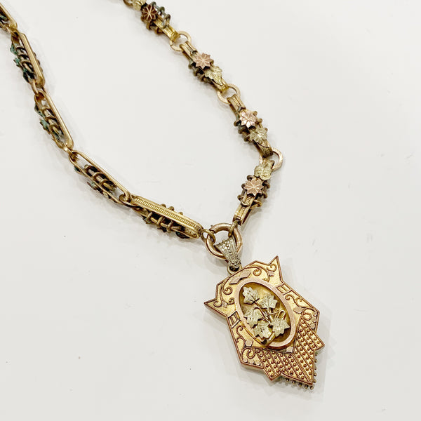 Victorian Ornate Locket and Chain