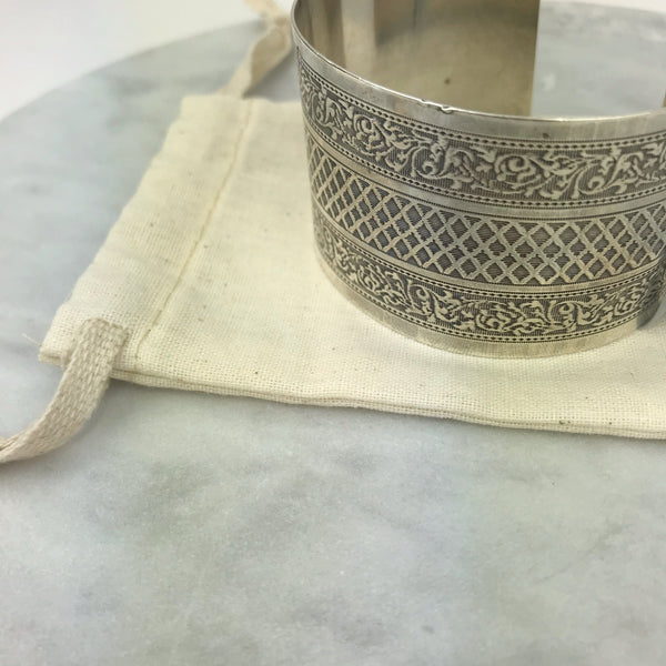 Antique Sterling French Napkin Ring Cuff